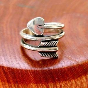 James Avery Heart and Arrow 925 Ring
